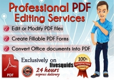 I will edit PDF or Create Fillable pdf Form