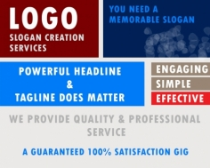 I will create a tagline or slogan for your business