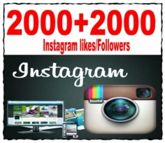 I will give you Real 2000 Instagram Followers OR 2000 Instagram Likes