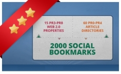 I will create 75 PR3 to PR8 seo LlNKWHEEL and 2000 social bookmarking backlinks
