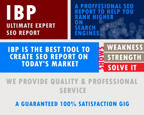 give detailed IBP seo report to optimize and rank any website in Google
