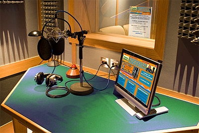 record a deep British voiceover in a broadcast quality studio