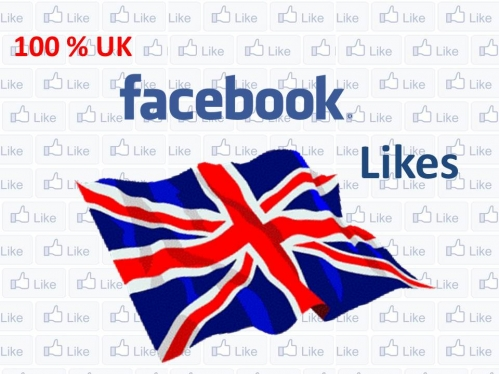 Get you 100+ UK facebook Likes All Real and Active facebook Likes