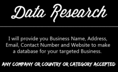 I will do data research Find for you contact,email,website