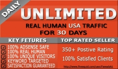 I will drive UNLIMITED Usa Traffic for 30 Days