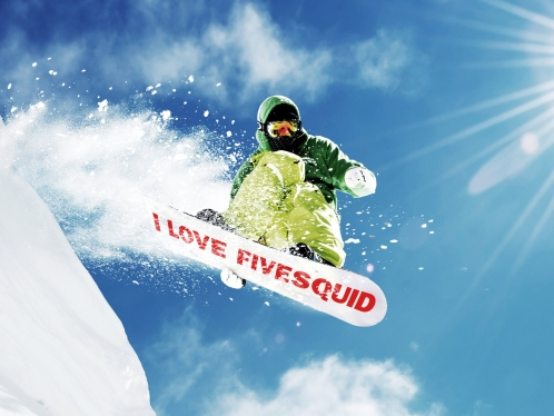 write your text on snowboard