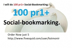 I will create 100 pr1 up Social bookmarking