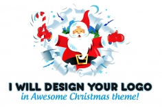 I will make your logo look Gorgeous for Christmas