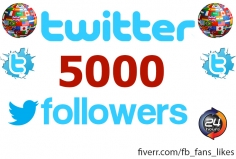 I will add 5000 Twitter Followers to your account
