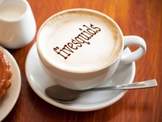 I will put your image, logo or text on a coffee cup with coffee powder in 24 hrs