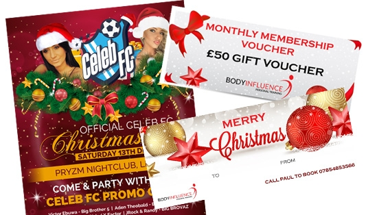 Create the great looking Christmas Holiday Card/Voucher/Menu/Flyer