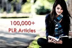 I will 100k plus FRESH highest quality plr articles cover all topics, well organized