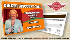 I will Design and print a novelty ginger discount card