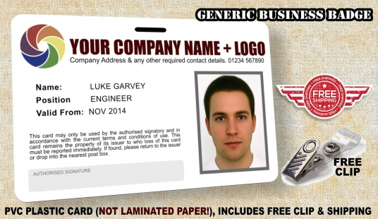 create your personalised company badge id card high quality pvc