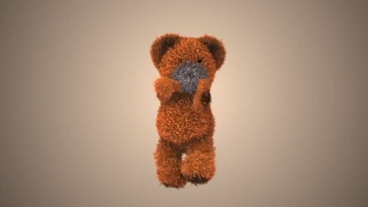 make this funny bear to dance with your logo
