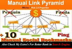 I will manually Create Link Pyramid Hit your website Google top10 in month with Bonus