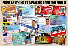 I will Print ALMOST  ANYTHING onto a high quality PVC plastic card, Inc Free clip or lanyard and