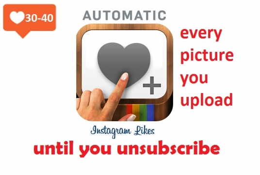 Add 30 to 40 auto instagram likes to every picture you upload until you  unsubscribe for £5 : fontos - fivesquid