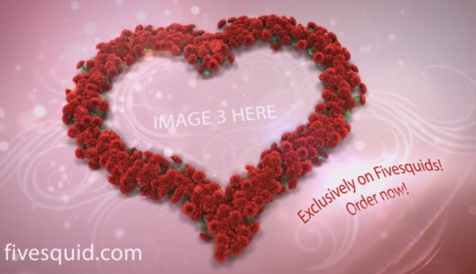 create this beautiful and romantic Valentine's Day video