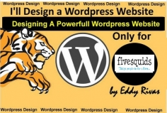 I will  design a wordpress website