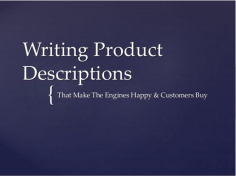 I will write 1 optimized product descriptions 200 words each