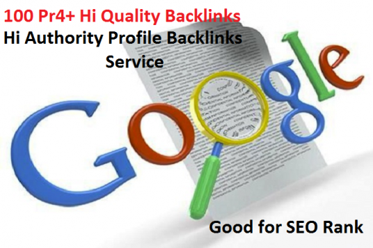 Give you 100 pr4+ Hi quality profile back-links