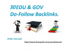 I will Build 30 dofollow edu,gov profile backlinks