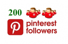 I will give you 200 Pinterest followers