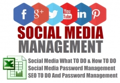I will give you All In One Social Media MANAGEMENT Excel Sheet