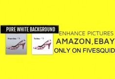 I will enhance pictures for Amazon Ebay within  6 hour