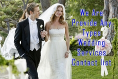 I will provide wedding services, suppliers, DJ etc contact database