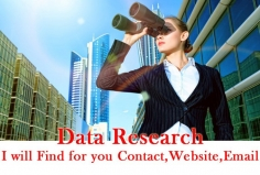 I will do data research find out contact,Email,web for your targeted areas