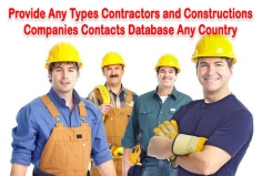 I will give you contractors, engineers, architect, constructions companies contact list