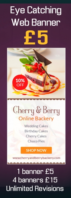I will design eye catching web banner