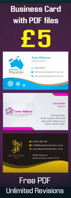 I will design professional business card with FREE PDF files