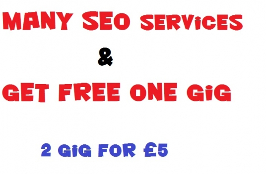 do manually many seo services  linkwheel,  bookmarking, ads posting & get free one gig