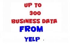 I will extract business data for you from yelp uk, es, us, au, ca