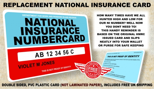 Replacement National Insurance Card