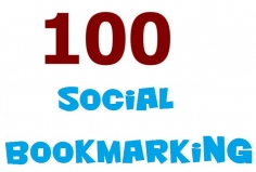I will do social bookmarking on 100 high PR social BOOKMARKING sites
