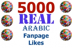 I will add 5000 Real Arabic Facebook Likes to your Page