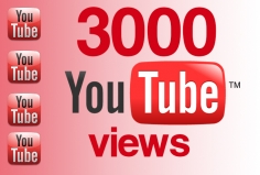 I will add 3000 Views to your YouTube Video