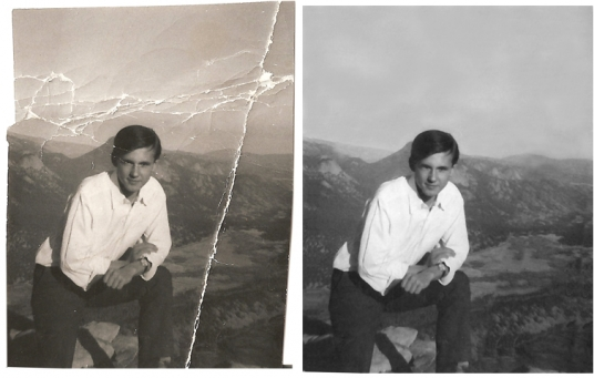 Restore old damaged images from your family for £5 ... Old Damaged Black And White Photos