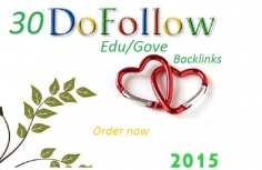 I will do 30 Dofollow edu gov backlinks