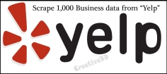 I will Scrape / extract / Collect 1,000 business data from Yelp
