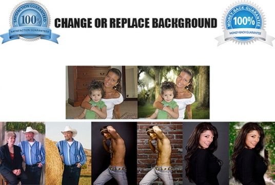do BACKGROUND Removal from 5 photos