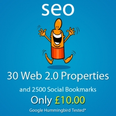 I will create 30 web 2,0 properties,2500 social bookmarks backlinks google friendly