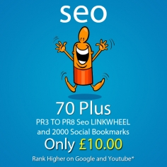 I will create 70 Plus PR3 to PR8 seo LlNKWHEEL and 2000 social bookmarks for your website