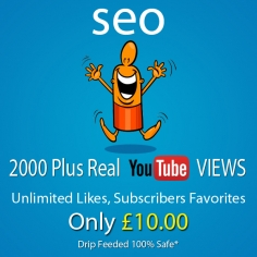 I will give you 2000 Plus YouTube views, unlimited likes Subscribers Favorites with Extras