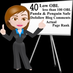 I will create manually penguin panda safe Low OBL 40 high DA Backlinks DA80+ to DA15+