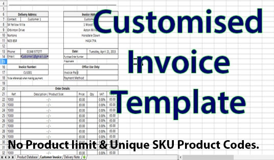 Create You A Customised Invoice And Delivery Note System With No - Invoice delivery system
